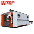 IPG / N-light 1000w Fiber Laser Cutting Machine With Shuttle Table For Metal Sheet Price