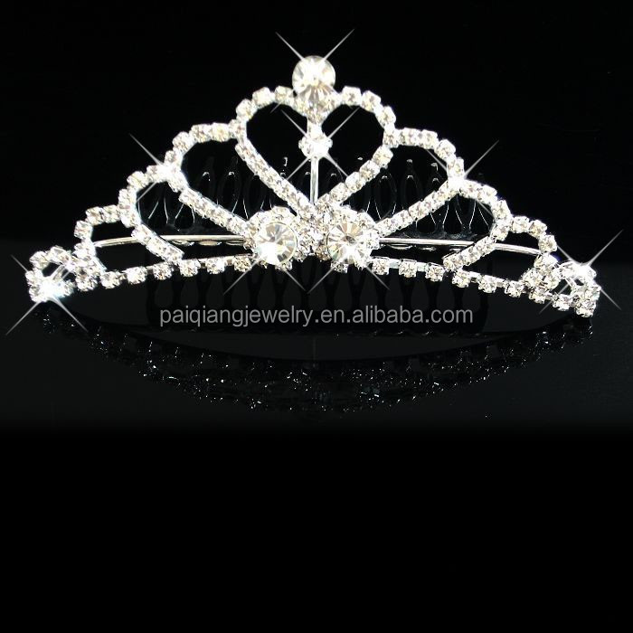 New designs bling rhinestone crystal beauty pageant crowns & tiaras