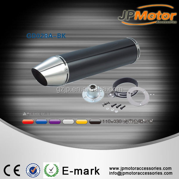 Chinese claasic aluminum motorcycle exhaust muffler for 600cc 500cc 400cc 300cc motorcycle scooter