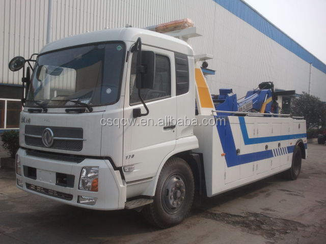 Dongfeng 4x2 8ton road recovery truck rotator tow truck for sale
