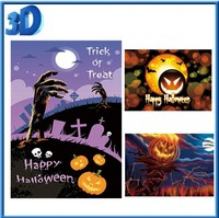 Christmas Halloween Thanksgiving Day 3d postcard for gifts with Envelop