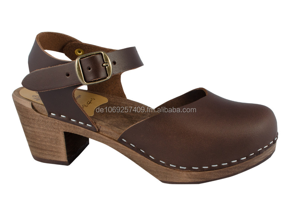 Original Swedish Clogs Sandal Oiled leather brown