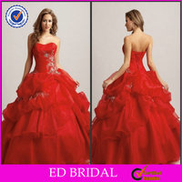 Beautiful Lace Ball Gown Red Wedding Dresses For Sale