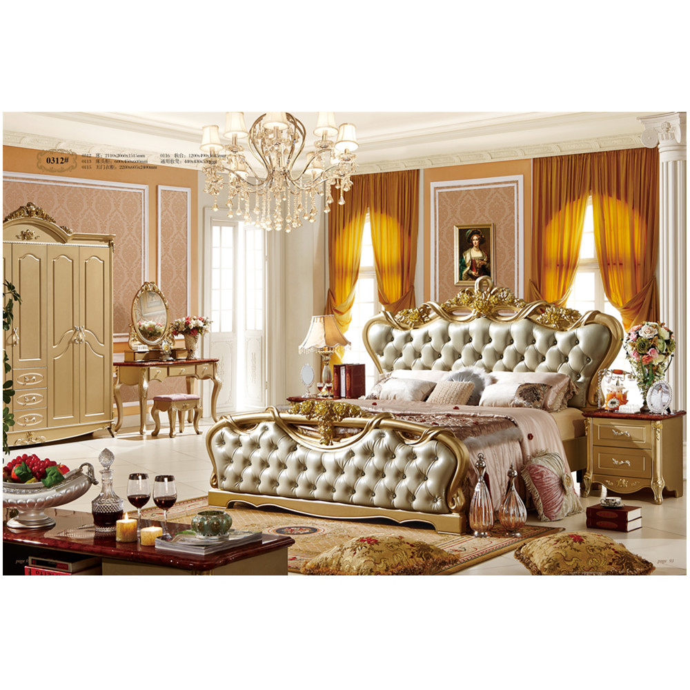 Luxury latest french provincial style bedroom furniture set