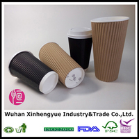 Disposable Coffee Paper Cup 16oz and 24oz Ripple Wall Making Factory