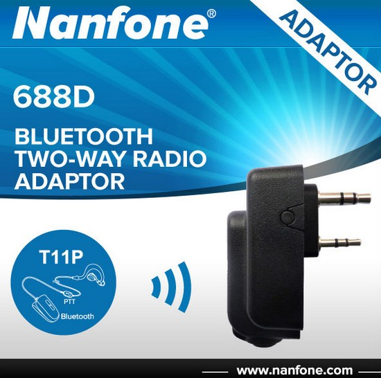 Nanfone 688D none cable connection bluetooth amateur radio adaptor for Kenwood