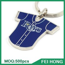China Factory Custom Logo Souvenir Key Ring Baseball Jersey Sports Metal Keychain