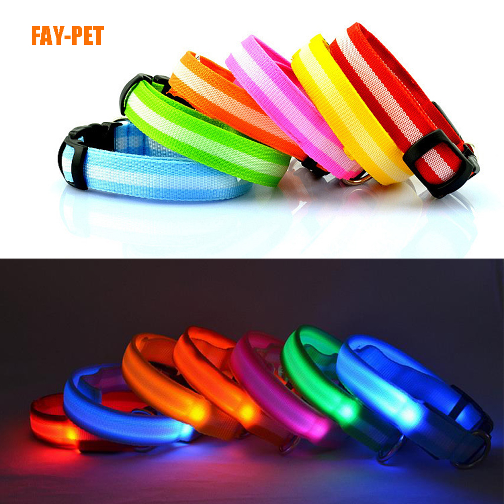 Led dog collar light flashlight electronic dog leash led dog collar