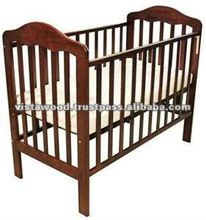 playpen , crib in wood colour , wooden baby furniture