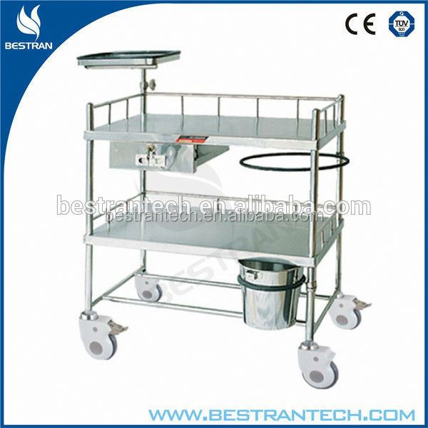China factory sales medical equipments mobile transport trolley with bottle hangers