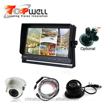 Reversing Backup Camera System With 10.1Inch Quad LCD Digital Monitor