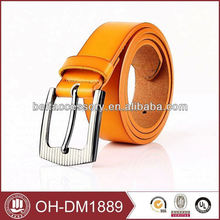 high quality real cow leather with stainless steel buckle