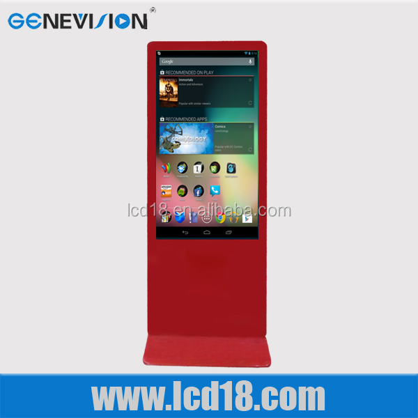55 inch led android advertising player digital signage display touch screen kiosk