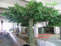 decorative artificial trees fake oak trees for sale
