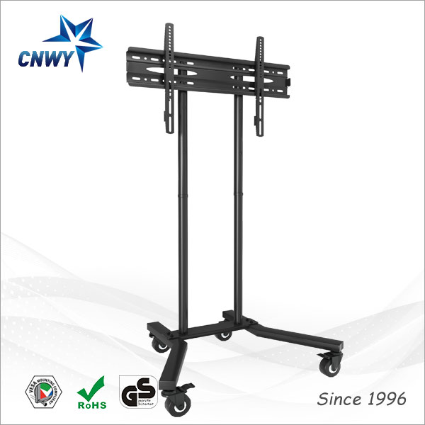 customized outdoor lcd led stainless steel tv pole stand with wheels