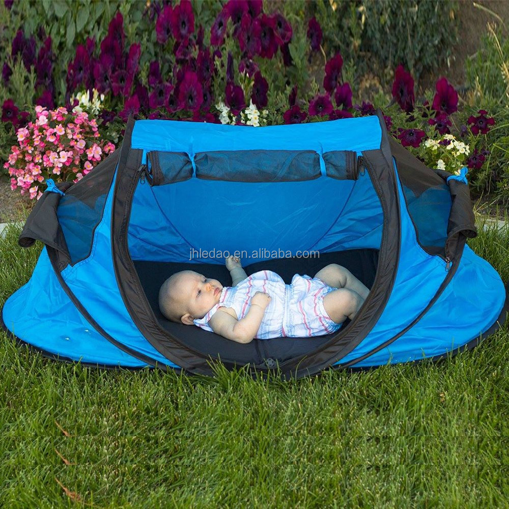 Instant Pop up tent Travel and oudoor Baby Tent Portable beach tent and bed for baby