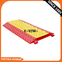 Yellow And Orange Rubber Cable Protector PU Cable Speed Hump Cable Trench Cover