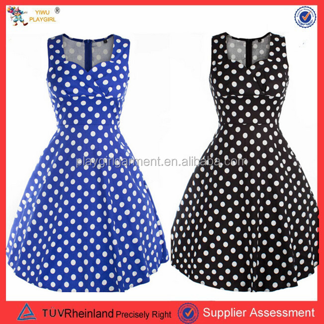 PGWC2013 Instyles Walson bestdress wholesale checkout 50s ladies red long sleeve polka dot rockabilly dress