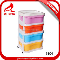 Cheap 4tier plastic cabinet, plastic storage container drawer,livingroom cabinet