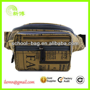 Stylish Zipper Closure Waist Bag with Mobile Holder and Money Bag