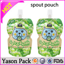 Yason laminating pouch shinning red green stick on packaging bags pouches stand up liquid/shampoo/laundry detergent/juice packi