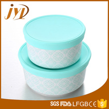 Set of 2 ceramic bulk food storage with silicone lid