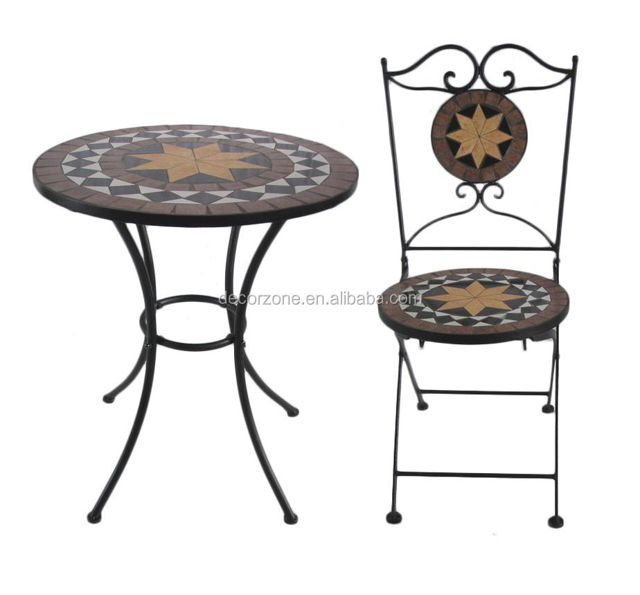 gartenm bel mosaik stein tisch und stuhl bistro set set im. Black Bedroom Furniture Sets. Home Design Ideas