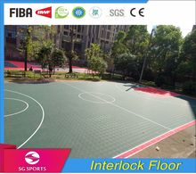 Interlocking plastic pp sport floor tiles kindergarten flooring