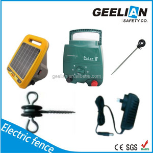 Solar power 5Joule LCD display 30KM Horse electric fence charger/controller/energizer