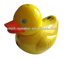 portable cute duck shape mini headphone speaker
