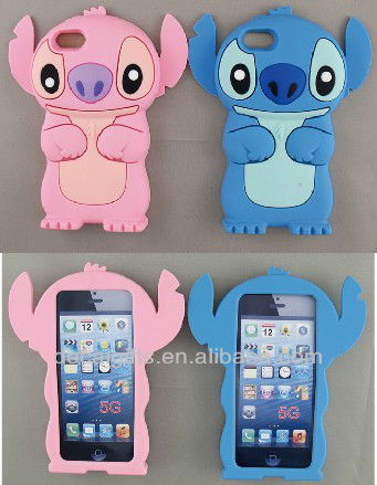 Stitch animal shaped phone cases for Iphone 5