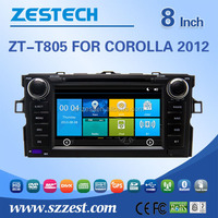 factory price touch screen car dvd player For TOYOTA Corolla 2012 support 3G audio DVB-T MP3 MP4 HDMI DVD function