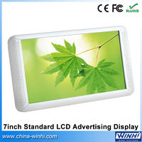 Indoor for supermarket mini digital signage advertising equipments shelves display screen 7 inch lcd panel