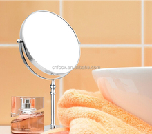 High quality 8 inch cosmetic table mirror / 3 * Magnifier desktop mirror / bathroom stand mirror