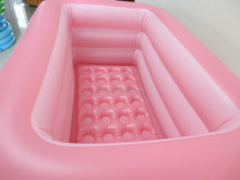 2015new cartoon item bath tub inflatable pool for baby pink