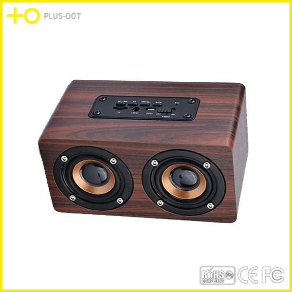 China manufacturer producing wooden gadget,wooden bluetooth speaker