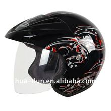 Huadun dot approved open face motorcycle helmet HD-50W
