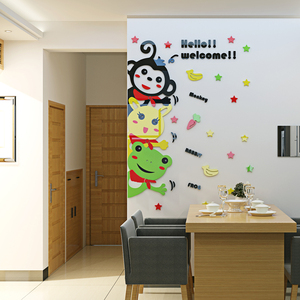 Creative Fashion Cartoon New Arrival wall sticker Lovely Frog Wall Stickers For Kids Rooms Decoration