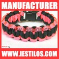 550 survival pink paracord bracelet for woman