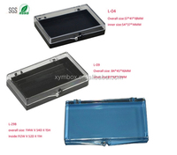 false eyelash packaging box, 3 sizes. Plastic material and hinged style