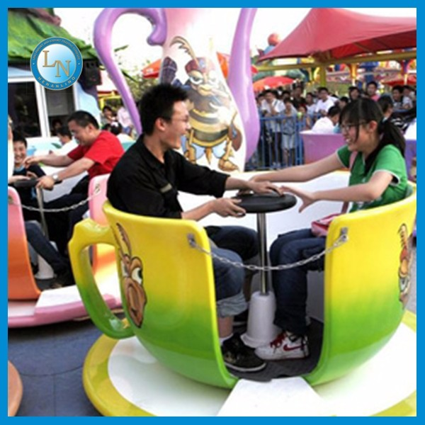 Beautiful park rides amazing fairground coffee cup ride