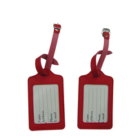 Bulk wholesale cheap promotional gift item travel accessory quality pu leather luggage tag