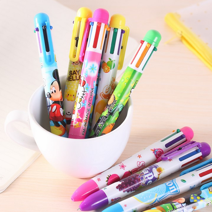 promotion best selling ball pen,6 in 1,4 in1 colorful pens with logo