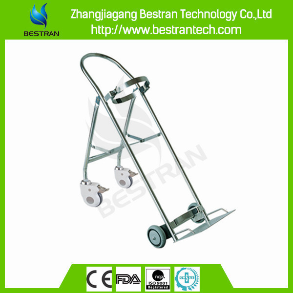 BT-SDT008 Stainless steel medical oxygen cylinders water bottle trolley