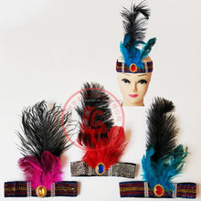 wholesale cooling carnival indian feather headbands indian feather headdress