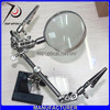 china supplier desk stand helping hands magnifier for soldering