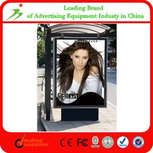 Mupi Advertising Led Stand Scrolling Outdoor Light Box Billboard