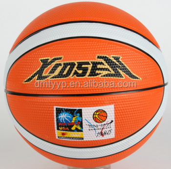 Xidsen,Qianxi Rubber 12panels Basketball size 6,colorful design,golf surface,super grip