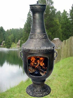 Cast Iron Chiminea Outdoor Fireplace