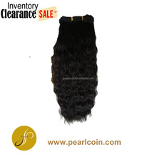 Hot Sale Black Super French Weaving Human Hair Mixed Synthetic Fiber